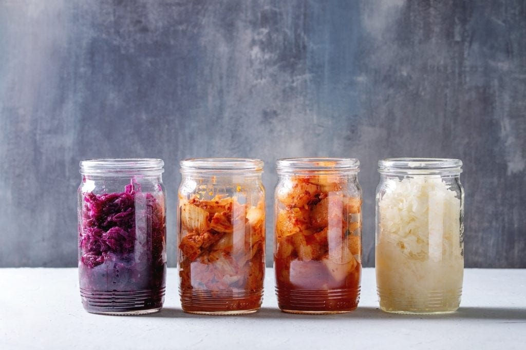 Variety of fermented food